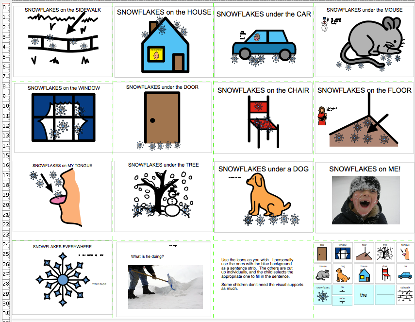Chapel Hill Snippets: Snowflakes Everywhere---printable book with ...