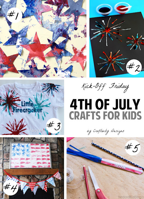 4th of july crafts for kids // easy to complete and most items you probably have on hand!