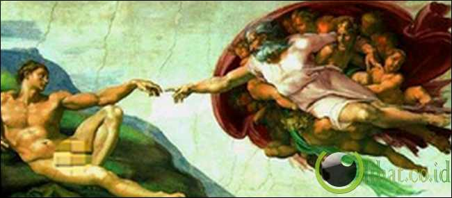 "Otak Melayang dalam ""The Creation of Adam"""
