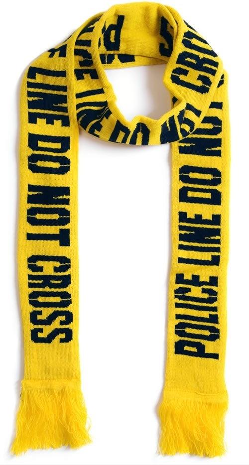 Police line scarf