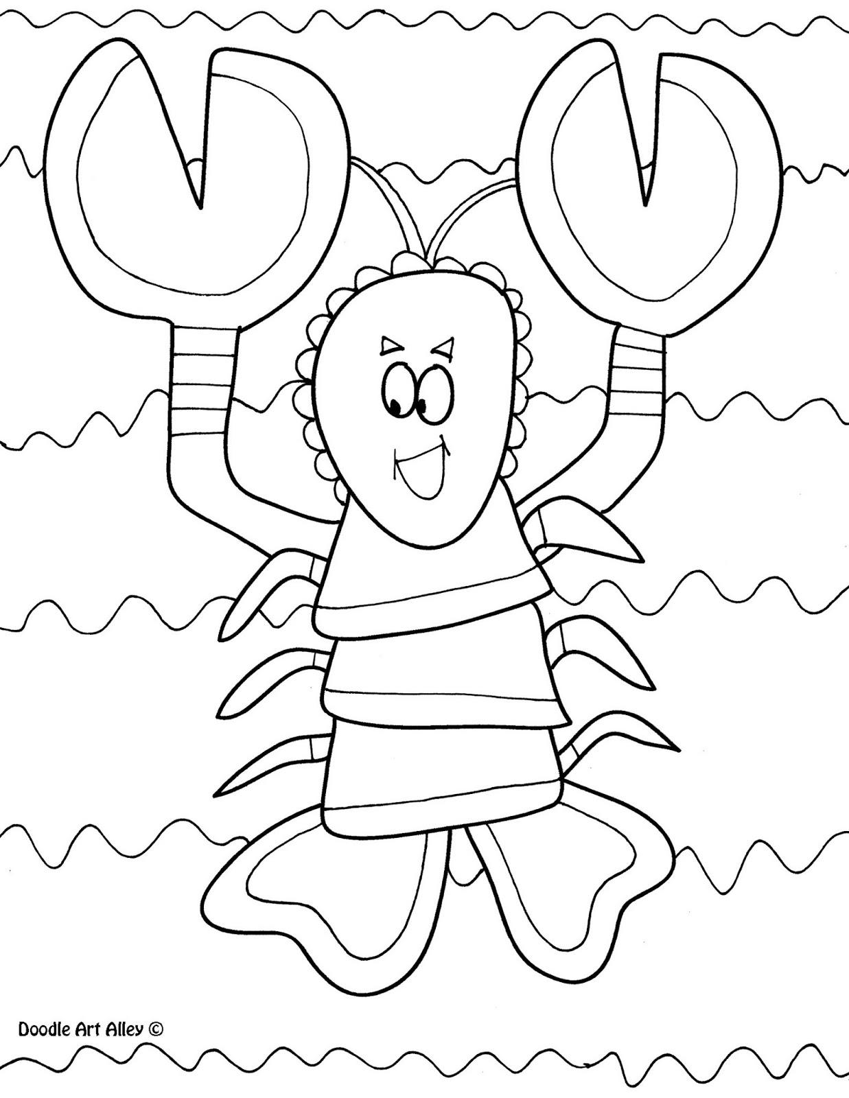 Mi mundo infantil animales para colorear for Lobster coloring pages