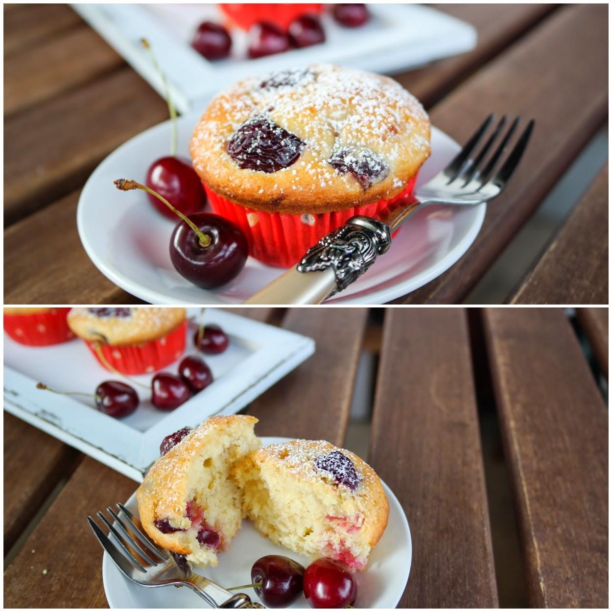 Kirsch-Bananen Muffins