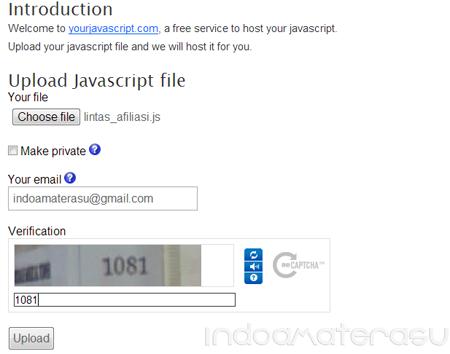 Upload File JavaScript di YourJavaScript.com