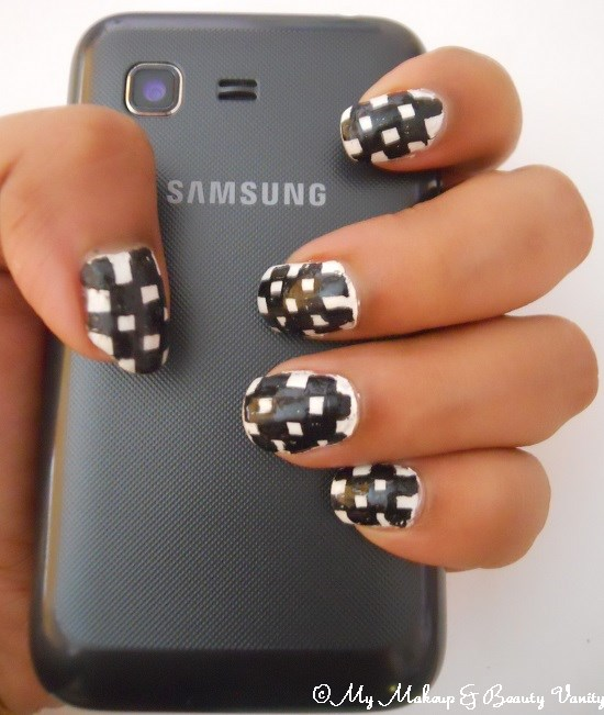 checkered nail art tutorial+nail art tutorial+nail art+nail+tutorial+nail designs