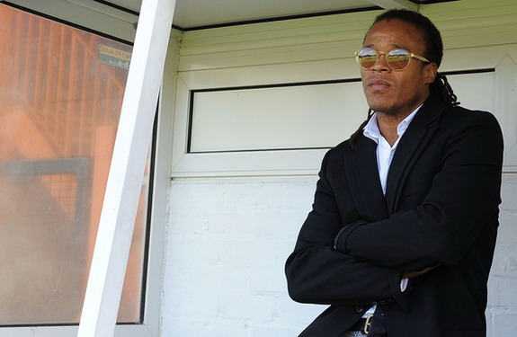 Player-manager Edgar Davids was hero of the day for 36 Barnet travelling supporters