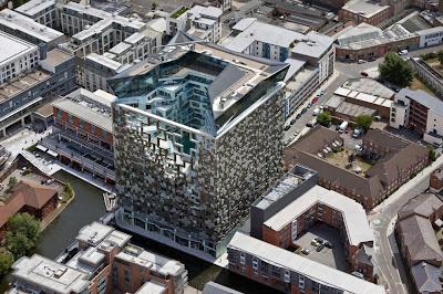 hotel - modern hotel building - cube