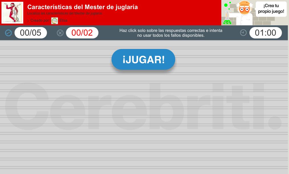 Actividad interactiva mester juglaría