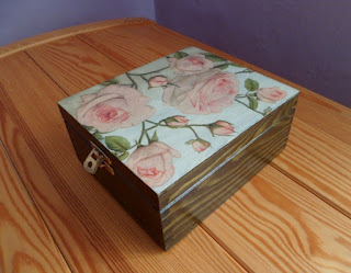 pudełko na herbatę decoupage