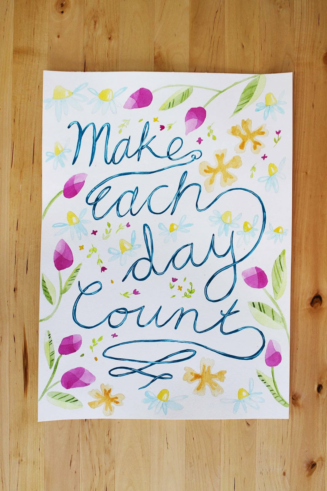 original paintings artworks nature lettering flowers inspirational happy