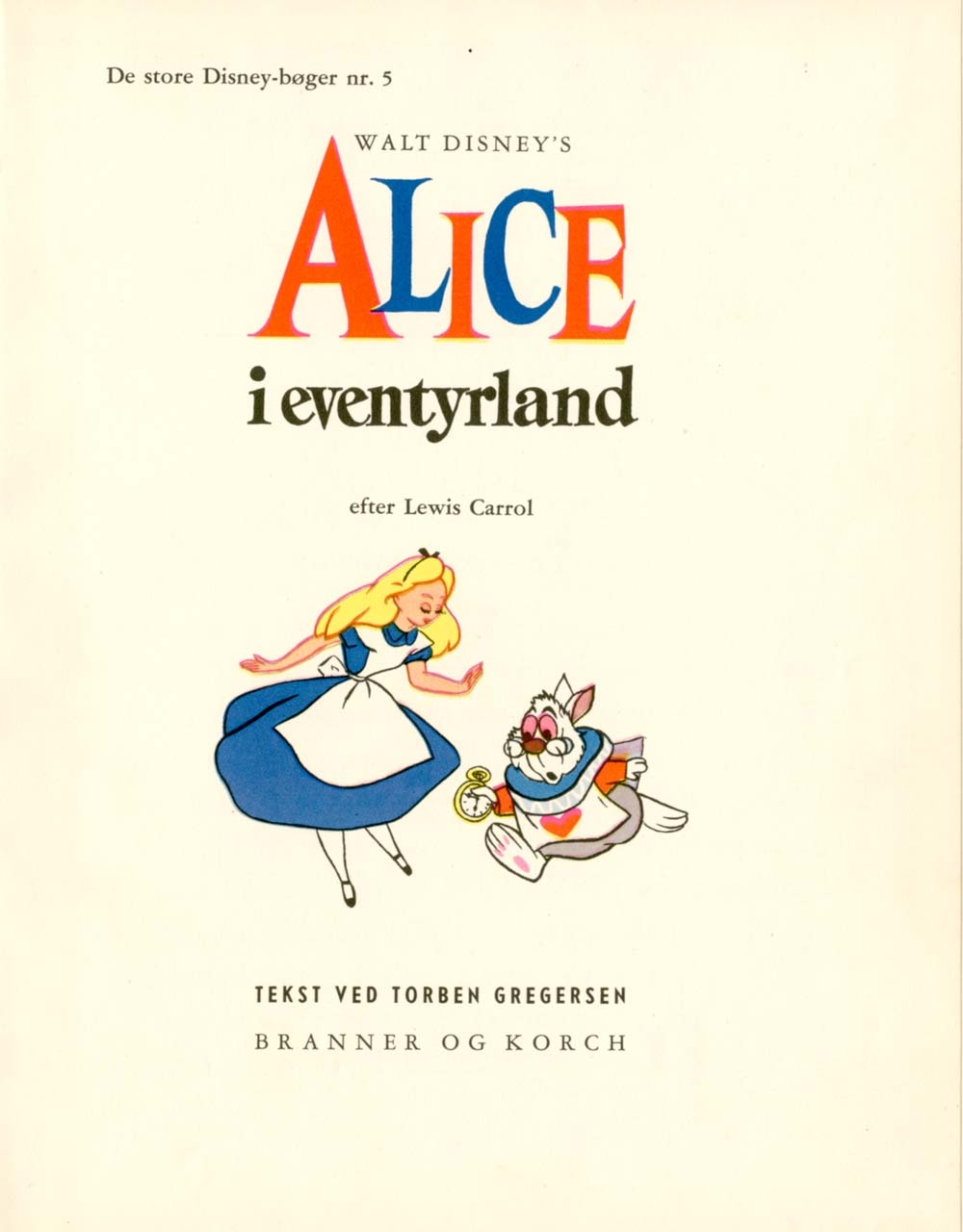 vintage disney alice this alice book was fifth in a series of disney books the great disney children s books according to google translate that included dumbo pinocchio