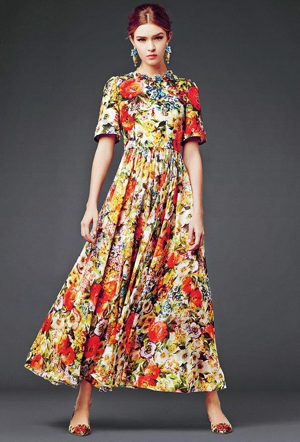 dolce and gabbana dress modest printed maxi dress with sleeves colorful stylish beautiful fashion Mode-sty mormon lds pentecostal jewish muslim tznius hijab islamic kosher halal christian