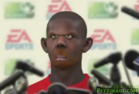 mari cipta muka fifa 12 funny face player