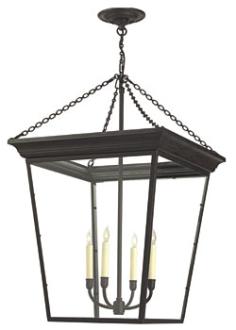 Large Cornice Hanging Lantern By Circa Lighting