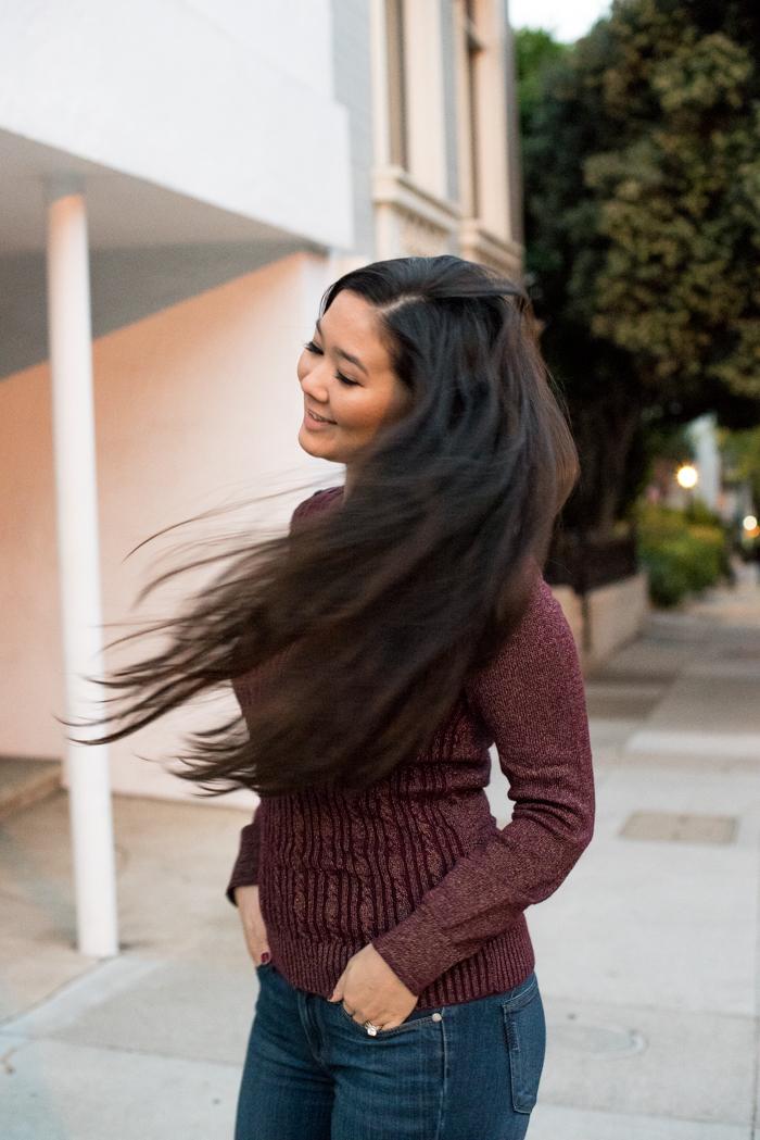 fashion blogger hair