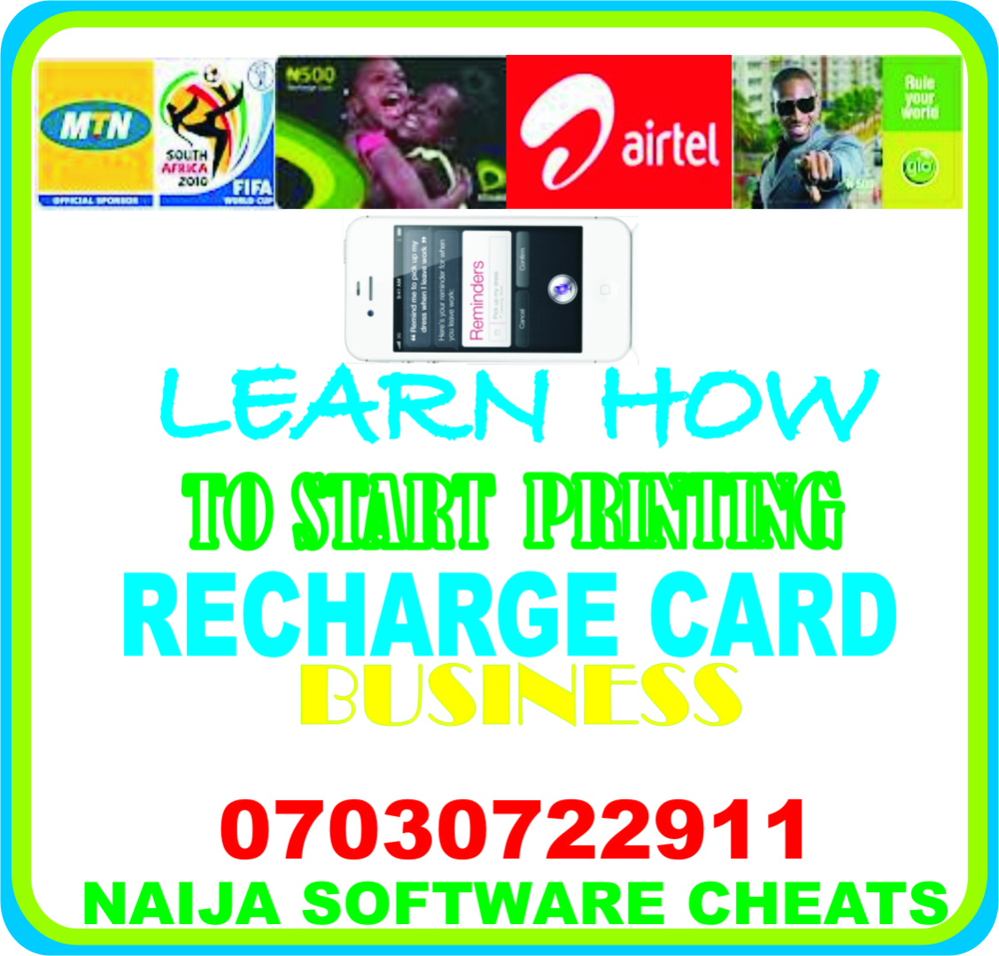 Get a Free recharge card printing software dealer package