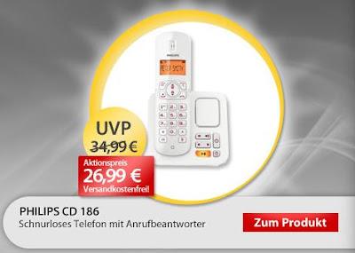 Schnurloses Telefon Philips CD1861 als OHA-Angebot für 26,99 Euro inklusive Versandkosten