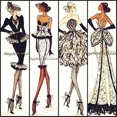 hayden williams fashion illustrator evening dresses sketches fashion drawings sketches