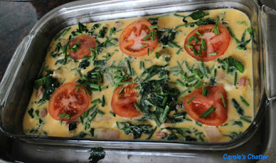 Carole's Chatter: Spinach & Bacon Frittata
