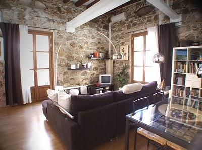 Cocinas y salones con estilo rustico moderno - Muebles estilo rustico moderno ...