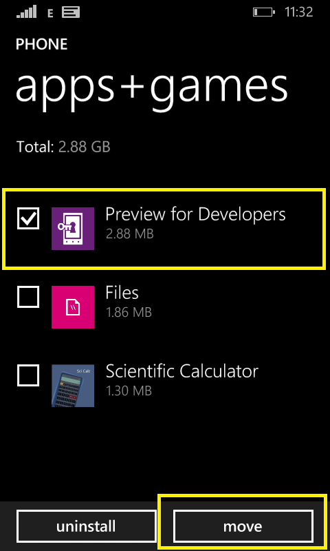 using storage sense on Lumia phone