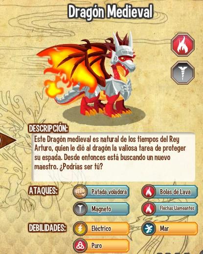 todas las estadisticas del dragon medieval
