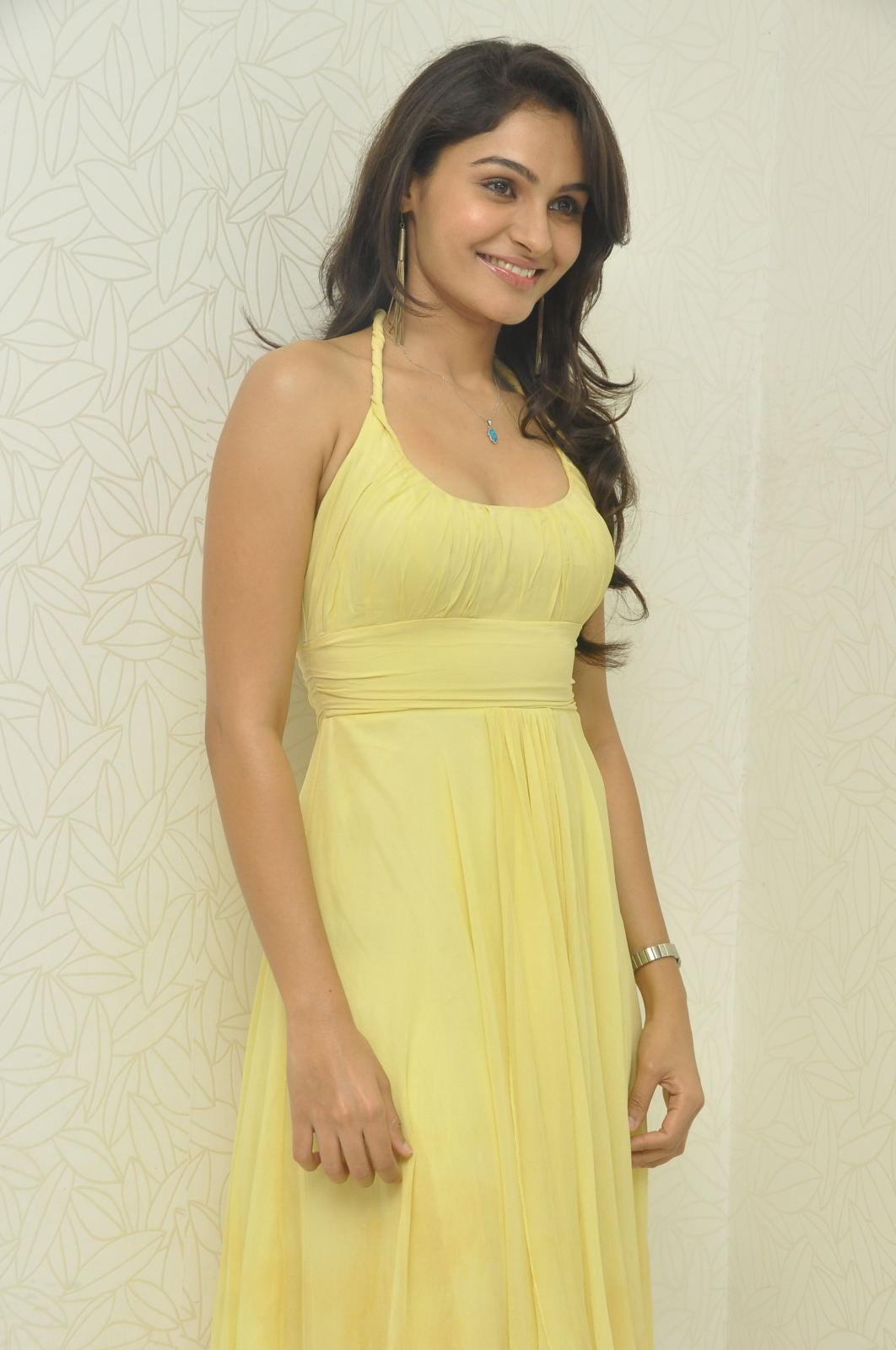 gorgeous hot exotic Andrea jeremiah latest hot photos at tadakha press meet