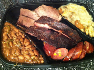 Mike Anderson BBQ Barbecue Barbeque Dinner Plate Ribs Sausage Brisket Dallas