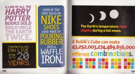 "Colorful text says ""Some of the first soles on Nike shoes were made by pouring rubber into a waffle iron."""