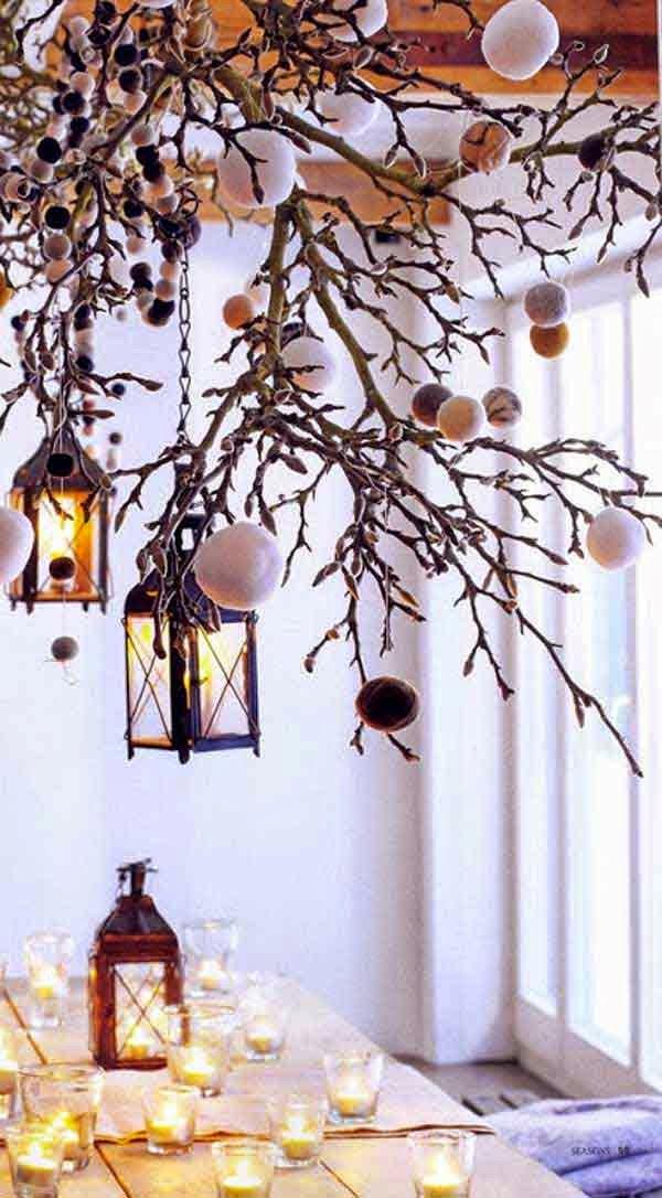 Ideas para decorar con ramas secas desde my ventana - Cristales para paredes ...