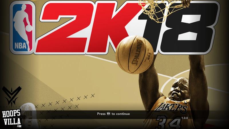 NBA 2k18 Legend Edition Gold Title Screen Mod for NBA 2k14