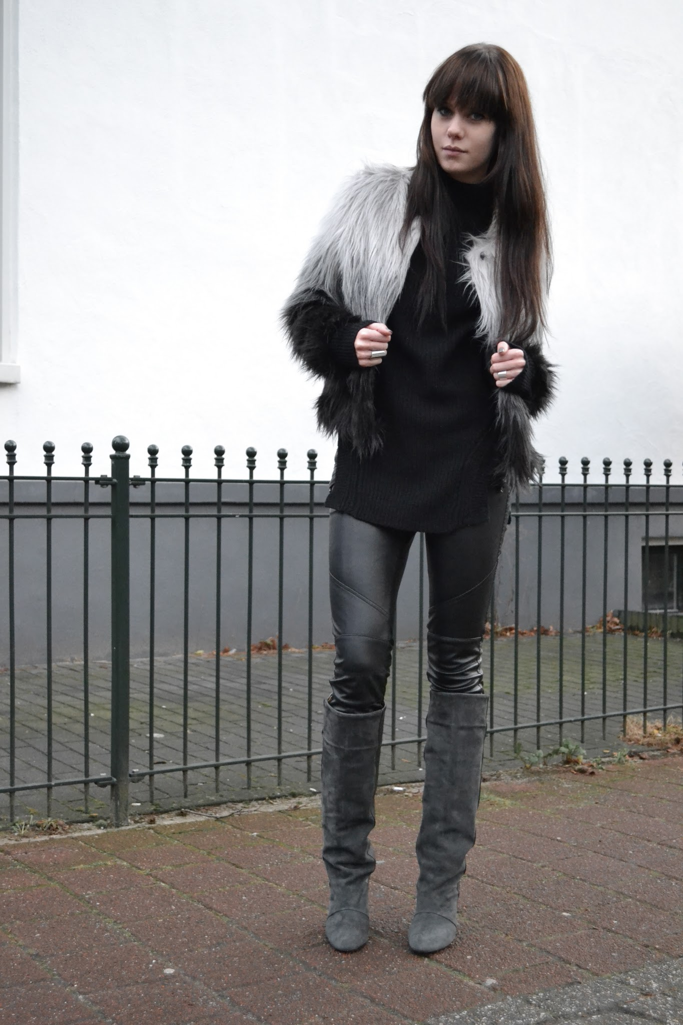18/12/2011 Outfit   Isabel Marant Boots & Ombre Furry Coat - Leather « Search Results « Lovely By Lucy