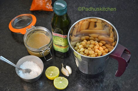 Ingredients for preparing hummus-how to prepare hummus