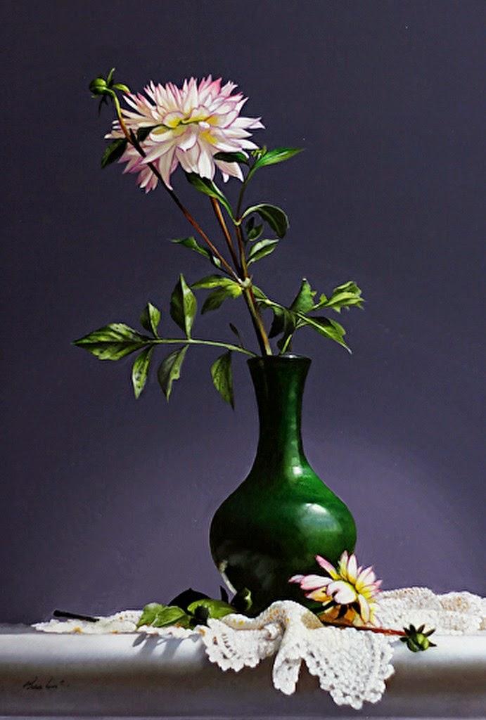 Cuadros modernos pinturas y dibujos jarrones de cristal - Jarrones de cristal con flores ...