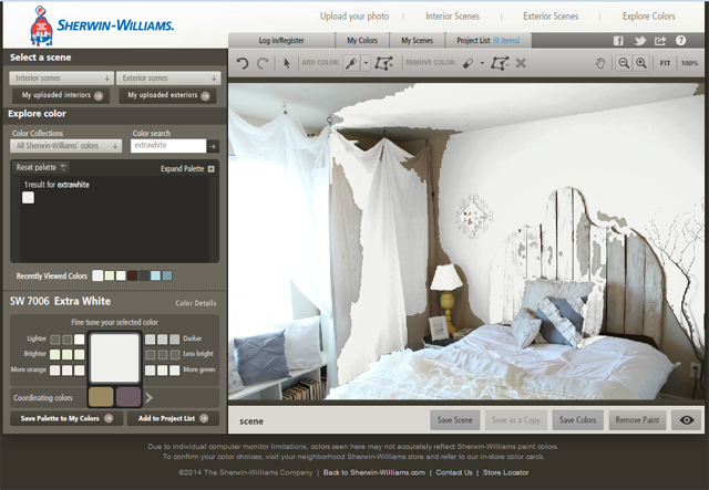 Color Visualizer by Sherwin-Williams via Thrifty and Chic