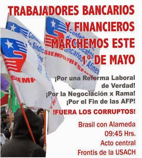 1º DE MAYO, TRABAJADORES BANCARIOS Y FINANCIEROS