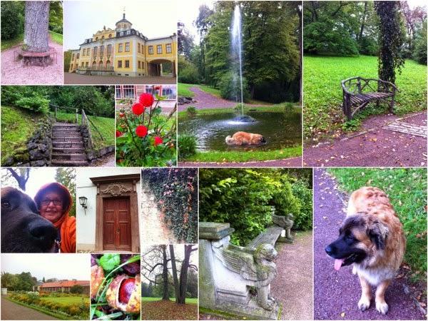 Schloß Belvedere und Park bei Weimar