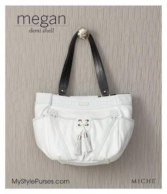 Miche Bag Megan Demi Shell is a White Purse