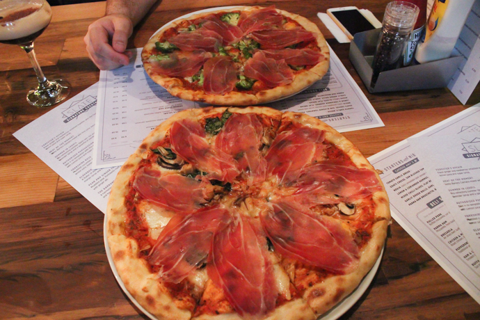 Pizza at Slate NQ Bar Leeds