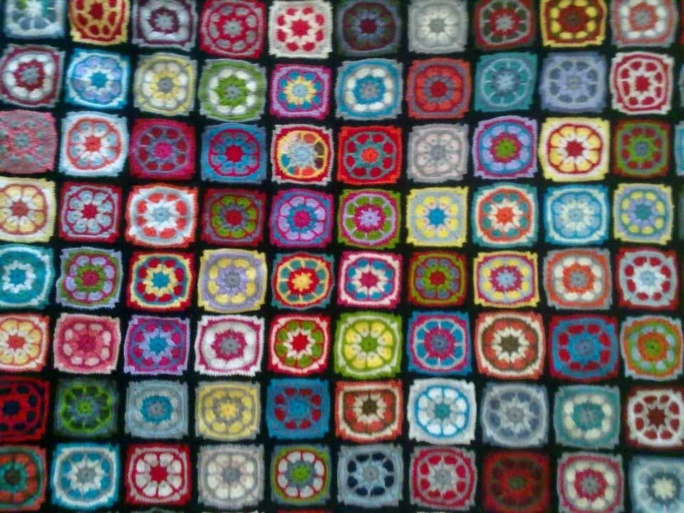 Manta a crochet GRANNY SQUARE | Geno. Diseño+Arte