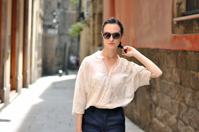 Mango lace blouse