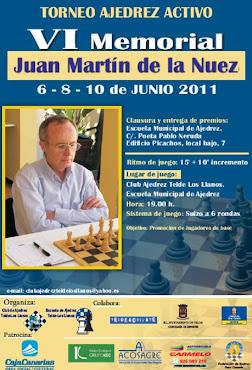 6º Memorial Juan Martín De La Nuez, 6-8-10 junio
