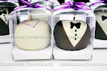 Dipped Apple Bride Groom