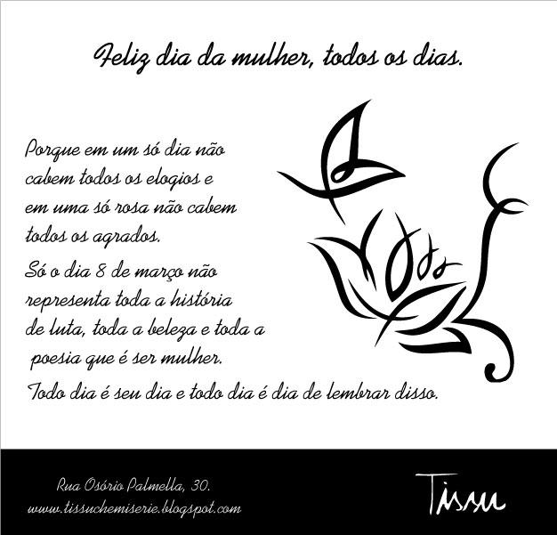 Feliz Dia Internacional Da Mulher Mensagem De Dia Da | Tattoo Design ...