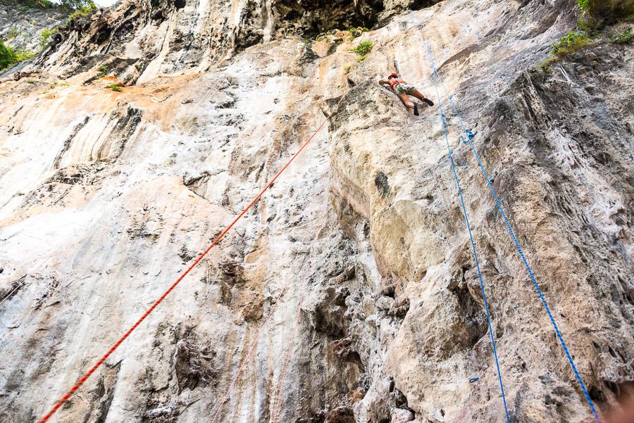 Railay. Rock climbing