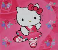 Gambar Hello Kitty Merah Muda Menari Balet Animasi Bergerak Balerina Pink Terbaru