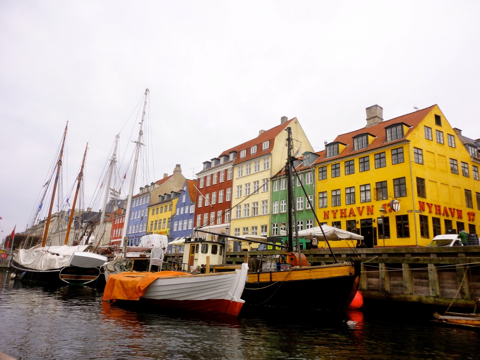 Nyhavn coloured houses on the harbour in Copenhagen