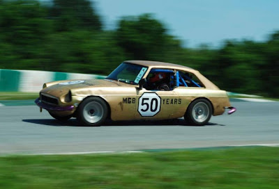 Never Mind the Bullocks Here's Gormless Racing MGB!