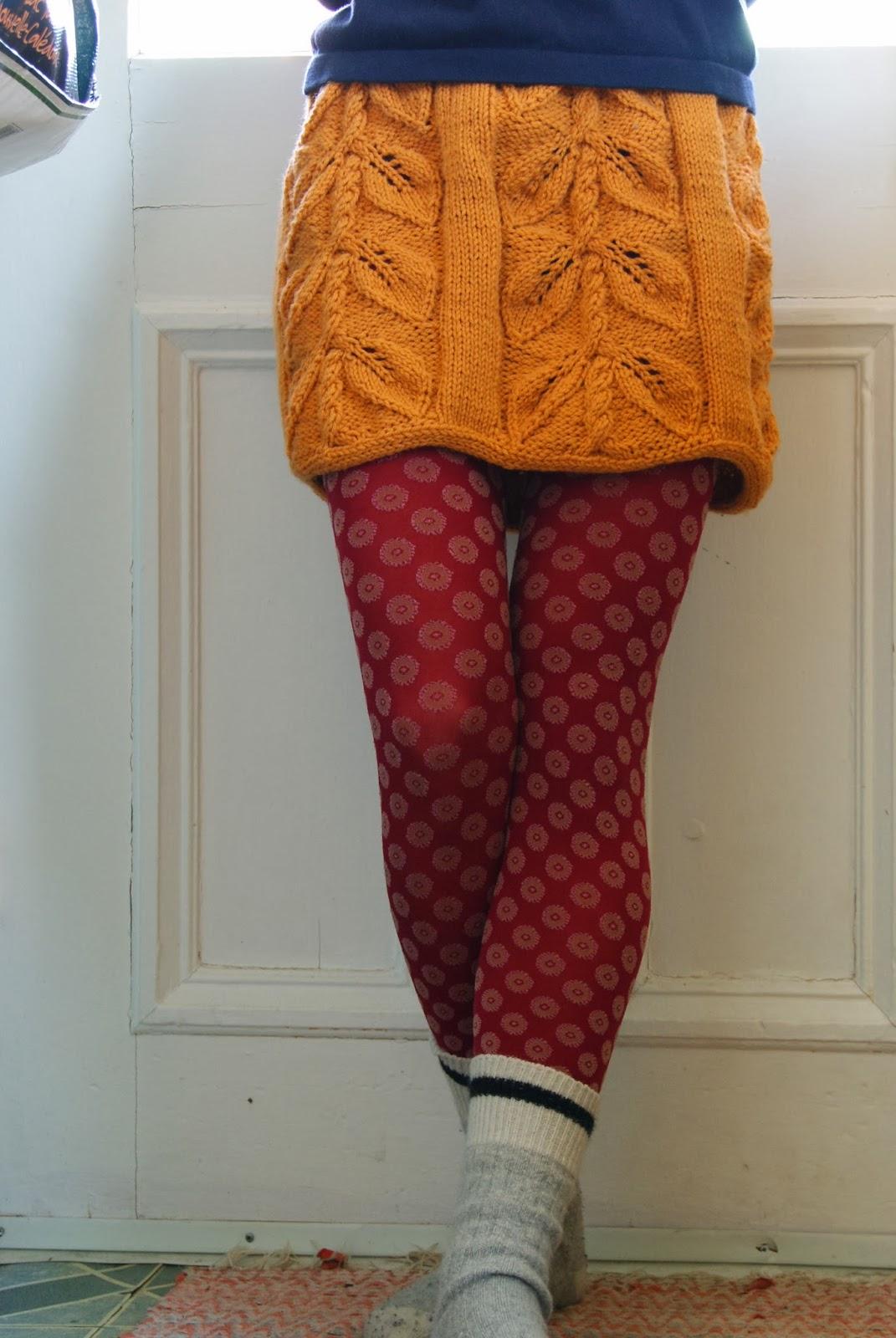 jupe haricot tricotée par maude design
