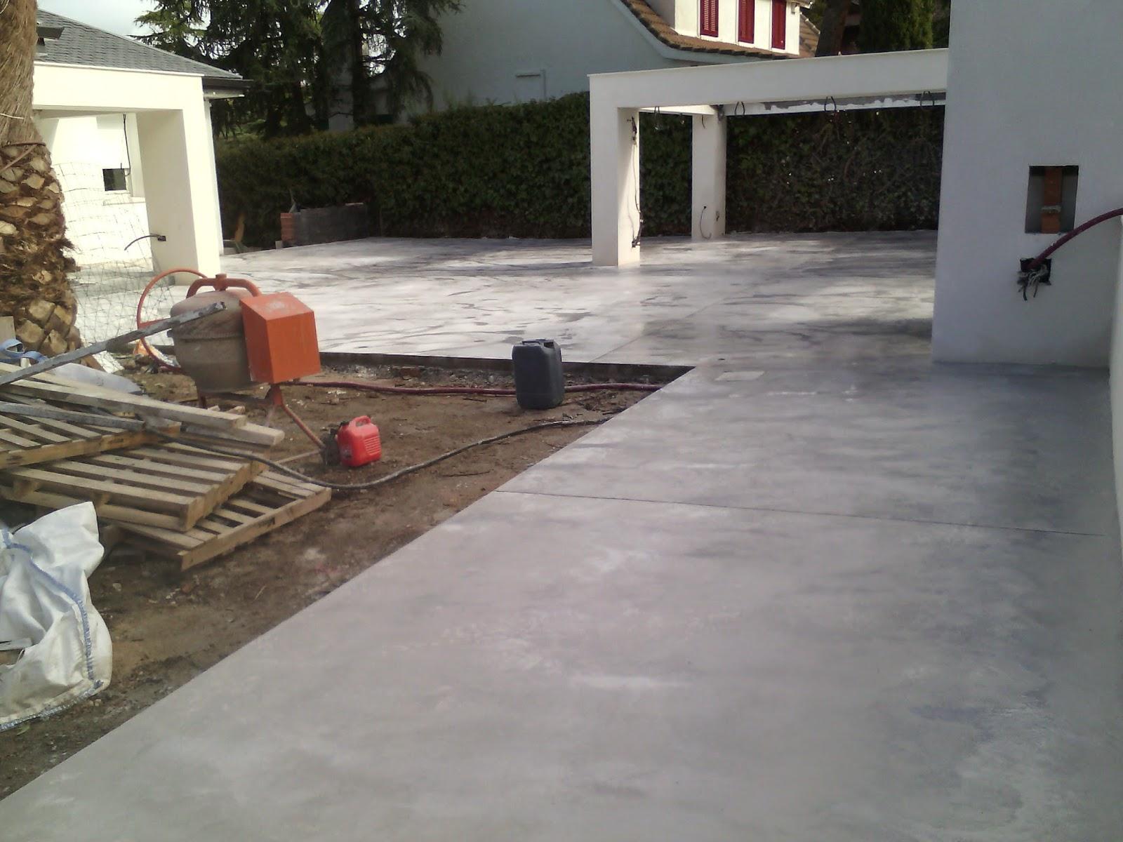 Pavimento continuo de hormig n javea moraira color blanco for Hormigon para pavimentos
