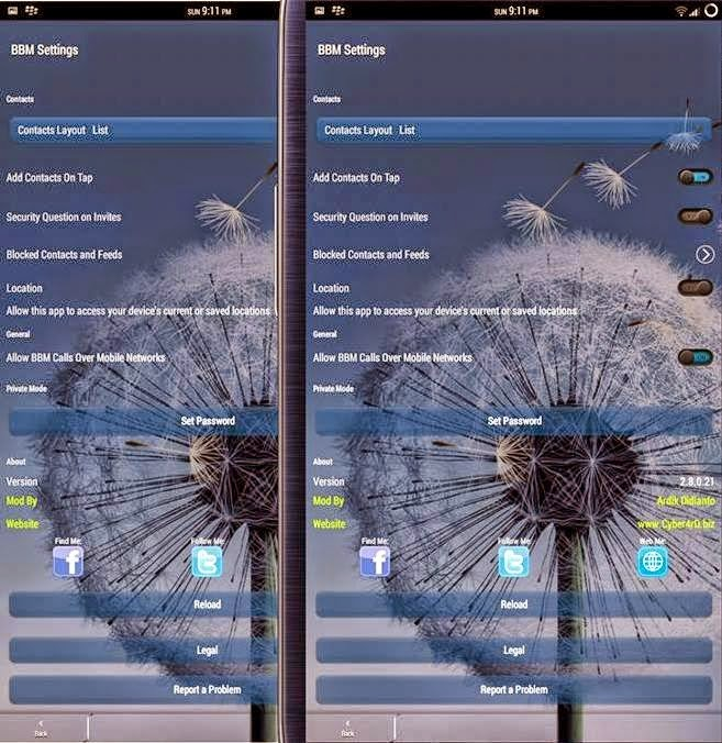 BBM Mod-ID Transparent v2.8.0.21 Apk